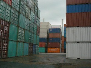 Port de marchandises Conteneur