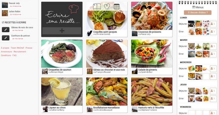 Wechef veut accompagner l 39 internaute jusqu 39 la for L internaute cuisiner