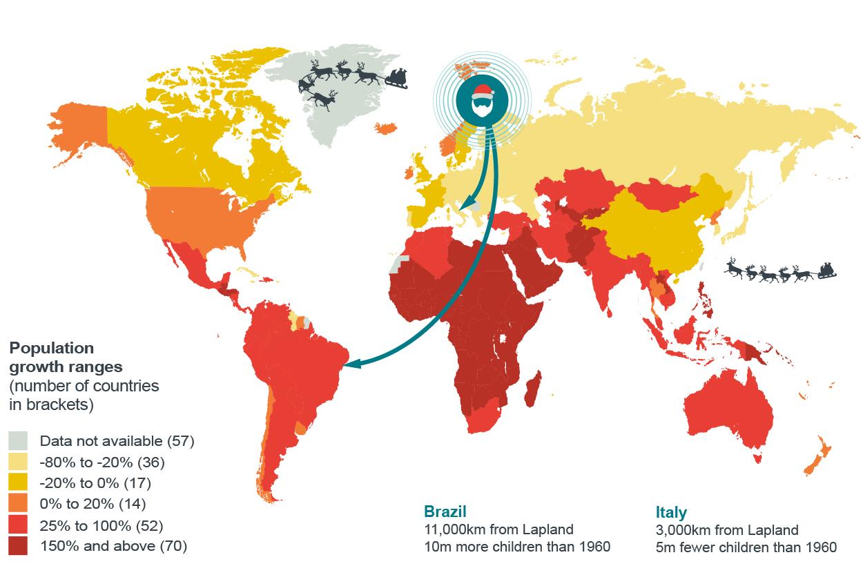 Croissance de la population des enfants âgés de 0 à 14 ans dans le monde