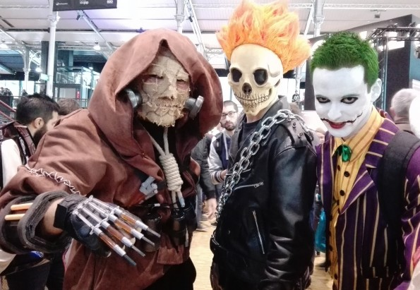Cosplayeurs au Comic Con Paris 2016