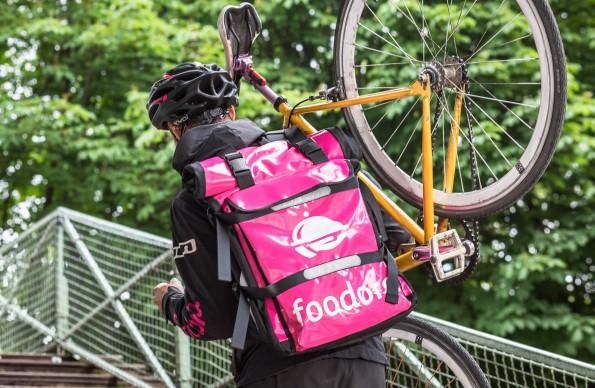 Livreur à vélo Foodora