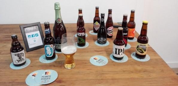 Bières artisanales en dégustation