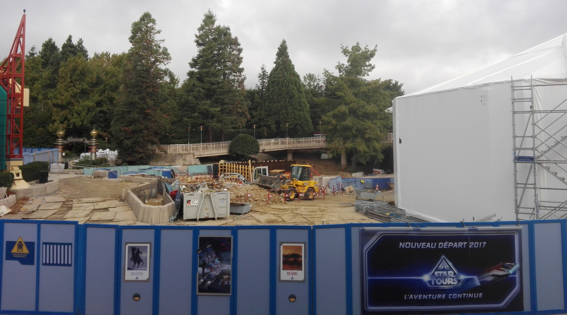 Star Tours - Chantier - Disneyland Paris - Octobre 2016