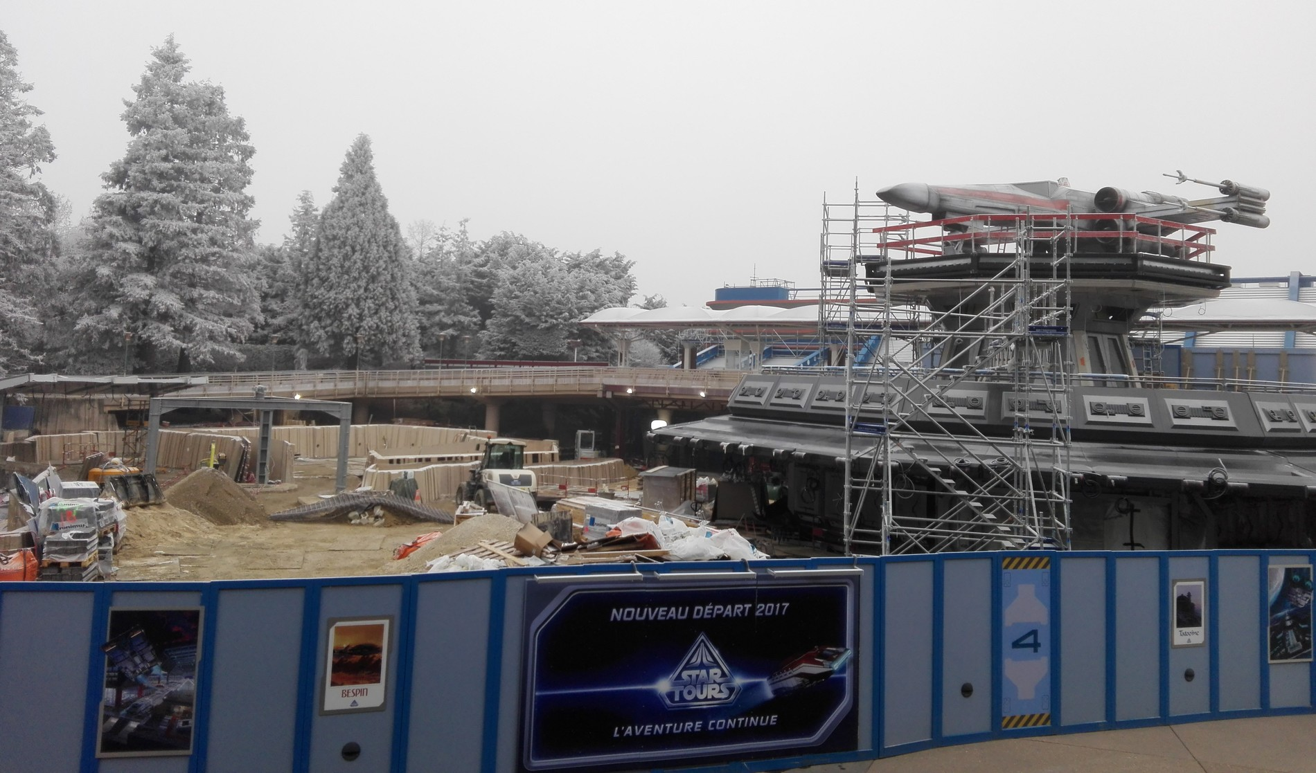 Star Tours - Chantier - Disneyland Paris - Décembre 2016