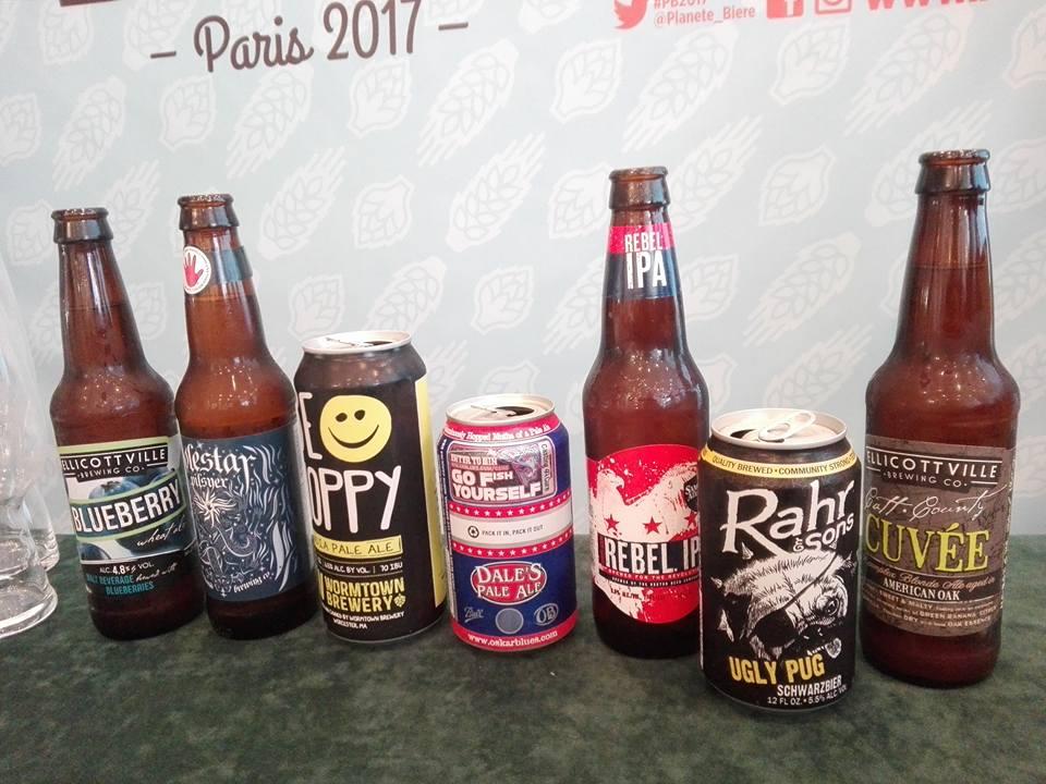Craft beers américaines