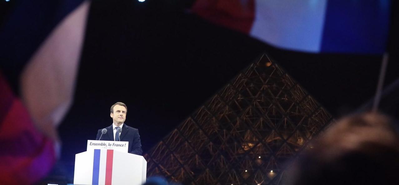 Emmanuel Macron - Pyramide du Louvre - Dimanche 7 mai 2017
