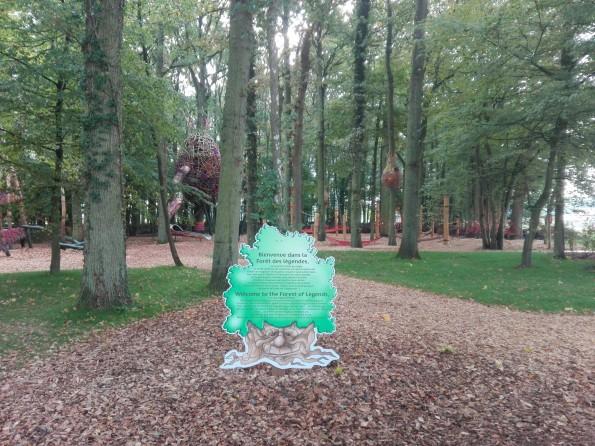 La Forêt des légendes, au fond du complexe.
