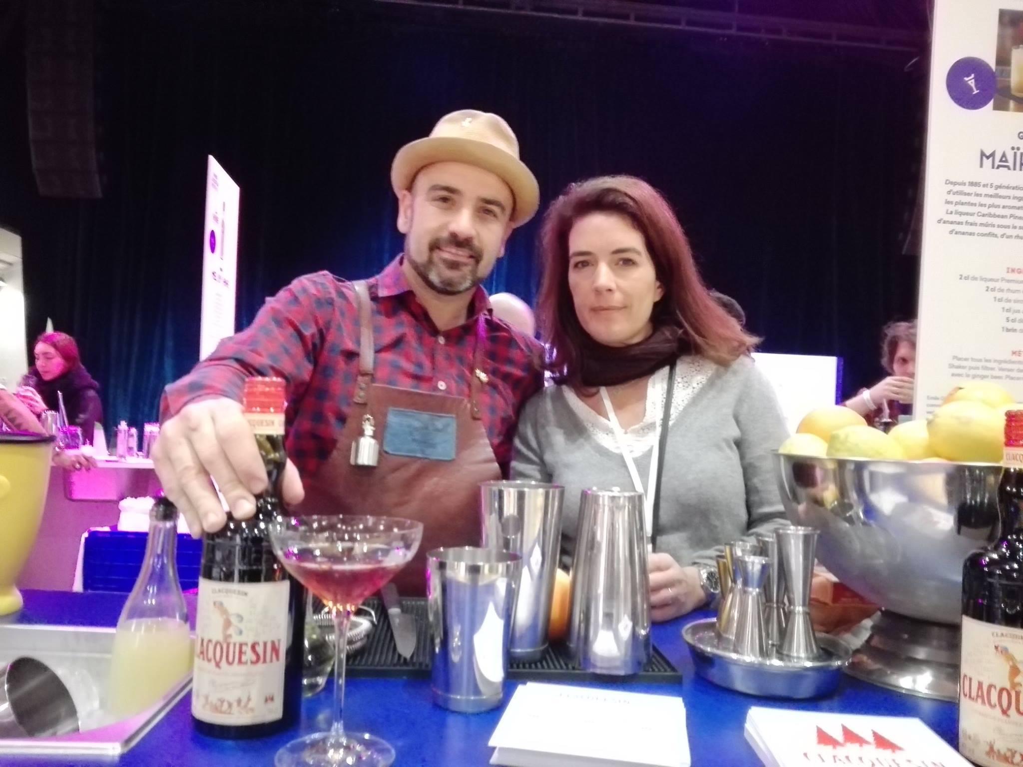 Stanislas Jouenne et Charlotte Sauzey, au Paris cocktail festival 2017