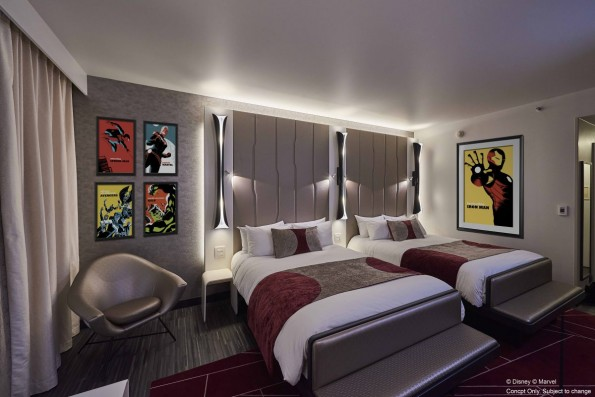 Les nouvelles chambres Marvel du Disney's Hotel New York.