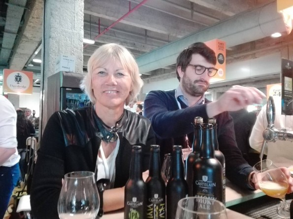 Annick Castelain (directrice générale) et Louis-Pierre Chateau (directeur des ventes CHR), Brasserie Castelain