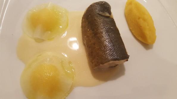 Truite fario et ses ravioles de navets