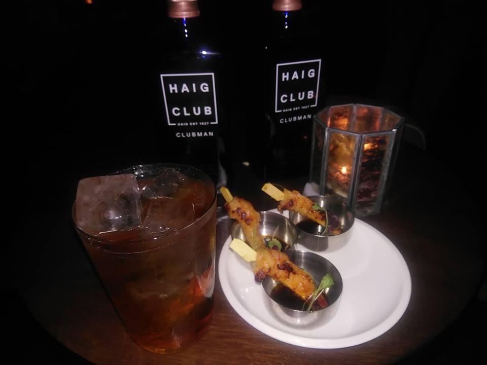 Cocktails et food pairing Haig Club