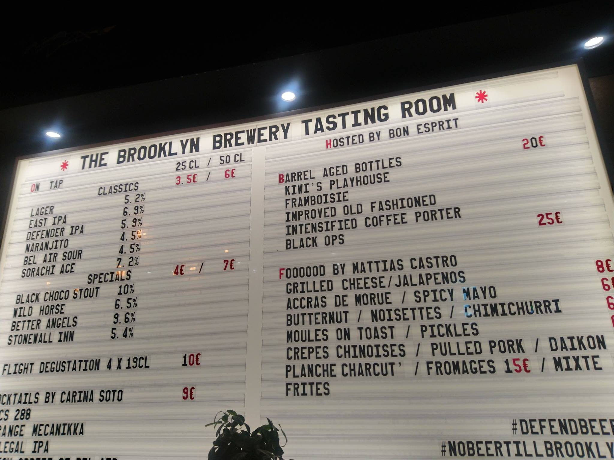 Brooklyn Brewery - Tasting Room Paris