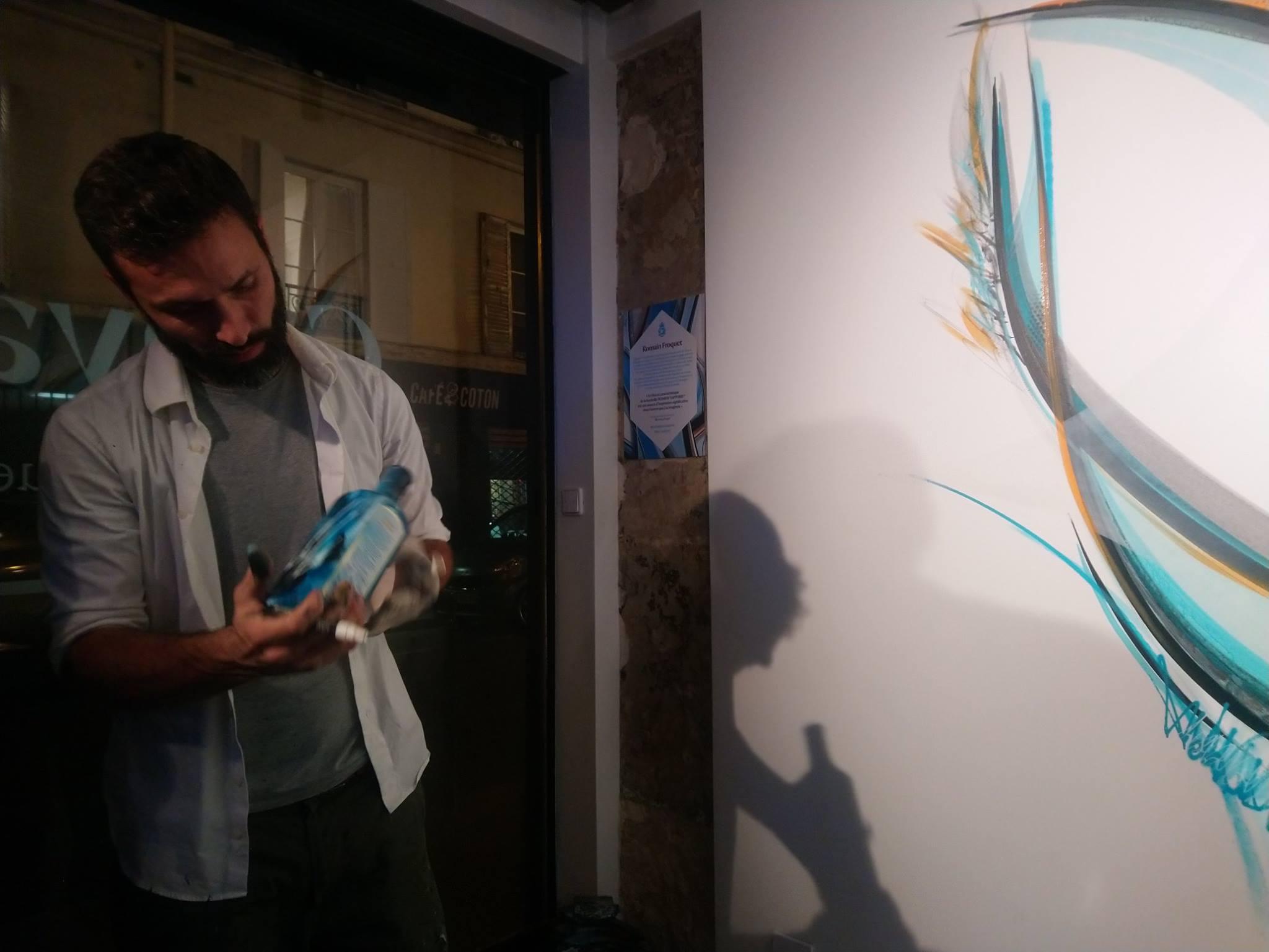 Artistes au Canvas Bar - Bombay Sapphire