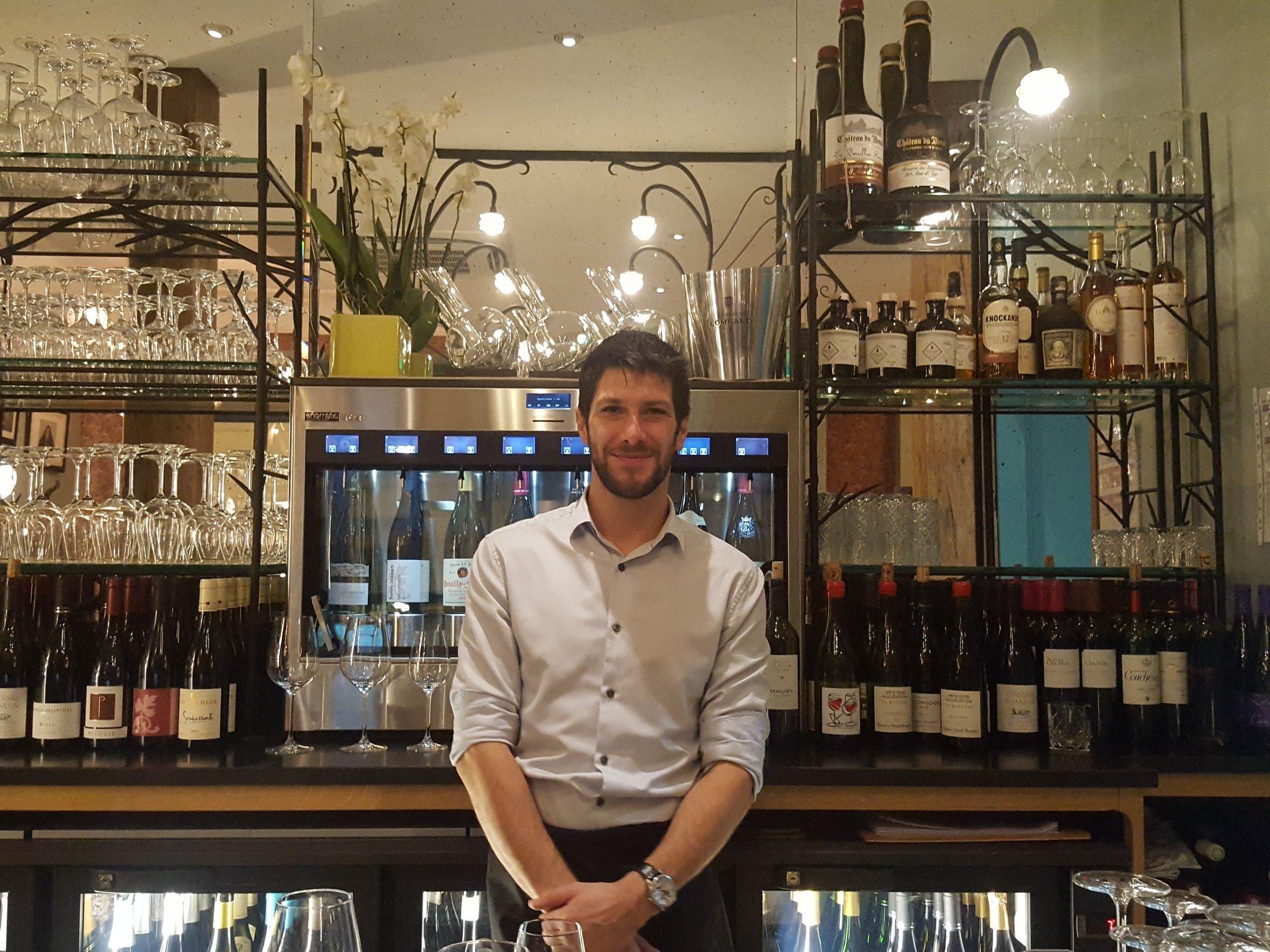 Romain Evain, sommelier, Le Bar du Bouillon