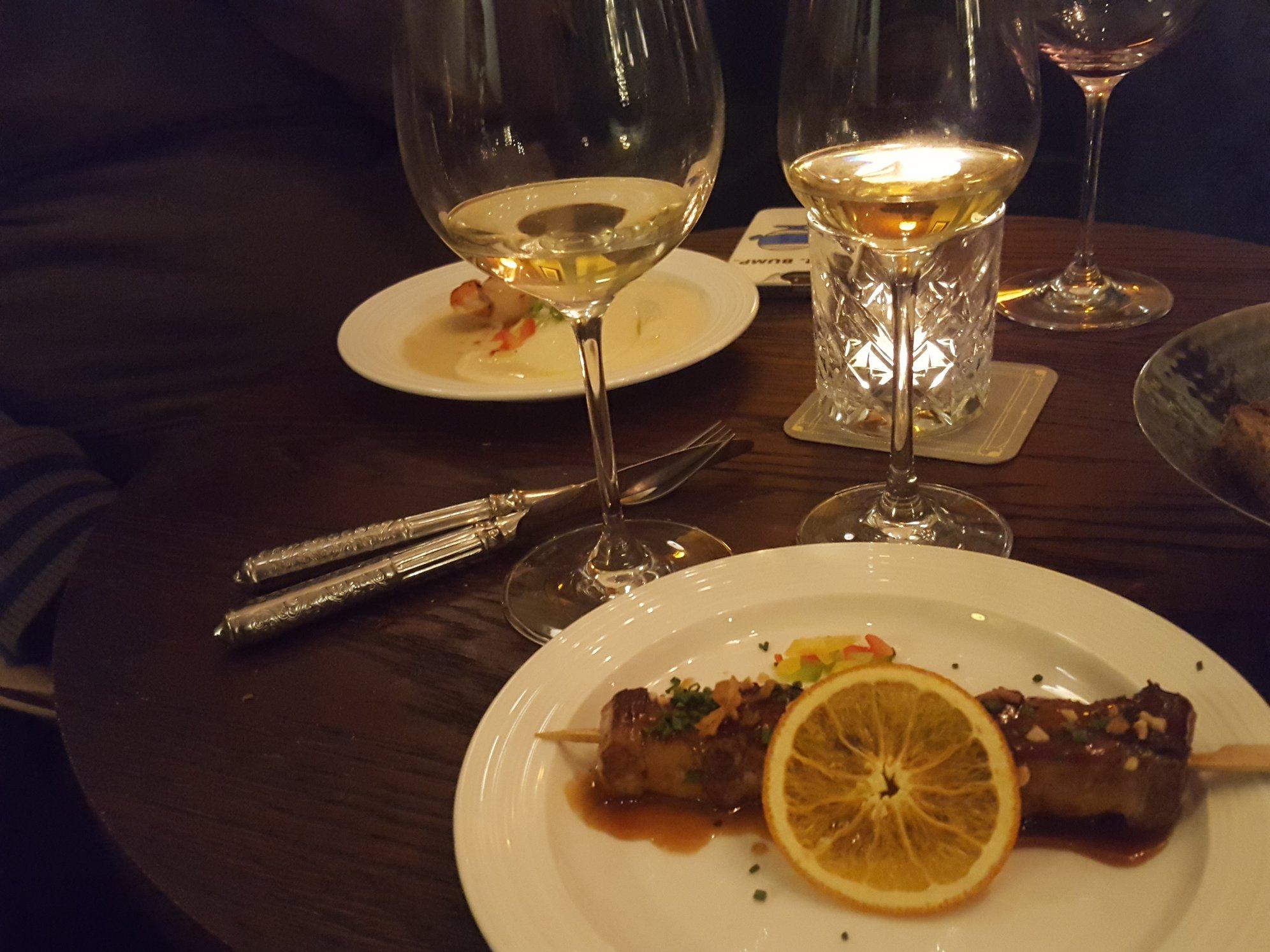 brochette de magret de canard et de foie gras de la maison Masse