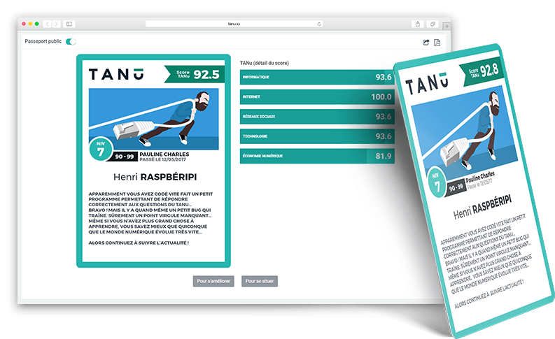 Le passeport digital du Tanu