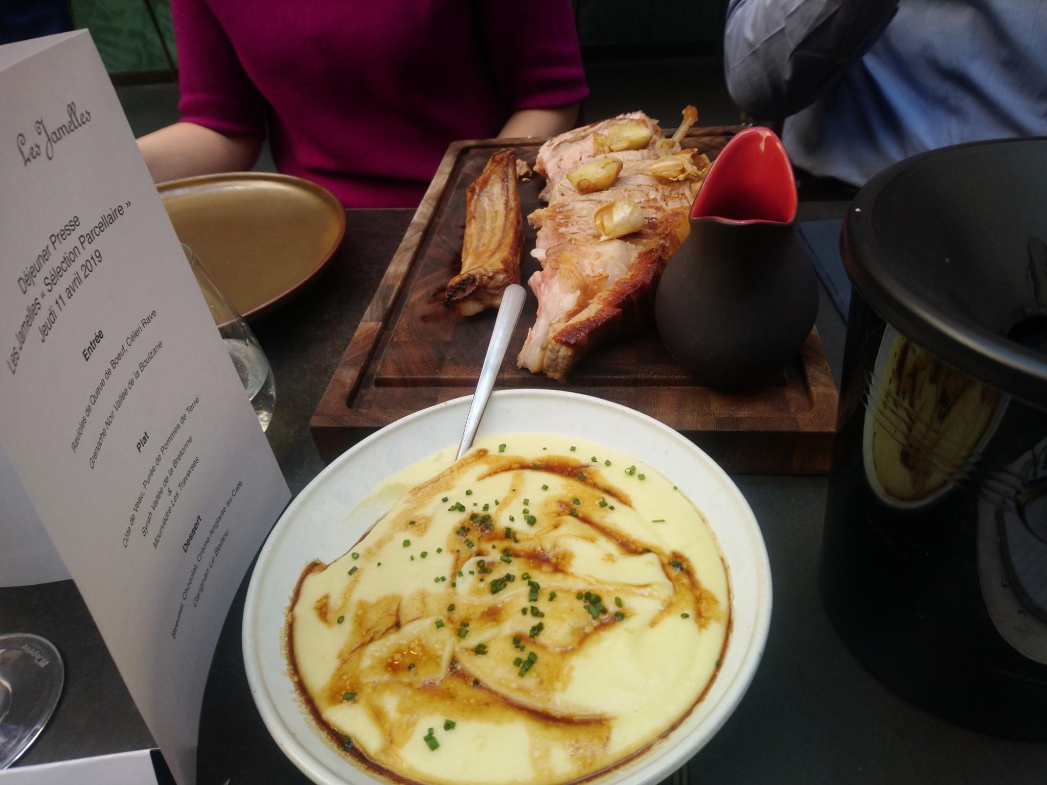 Restaurant Terra, à Paris - Côte de veau et purée de pommes de terre