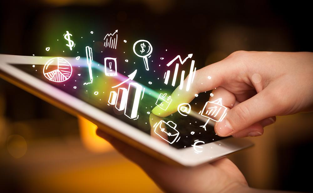 Indicateurs économiques sur tablette