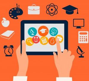 E-learning, flat design