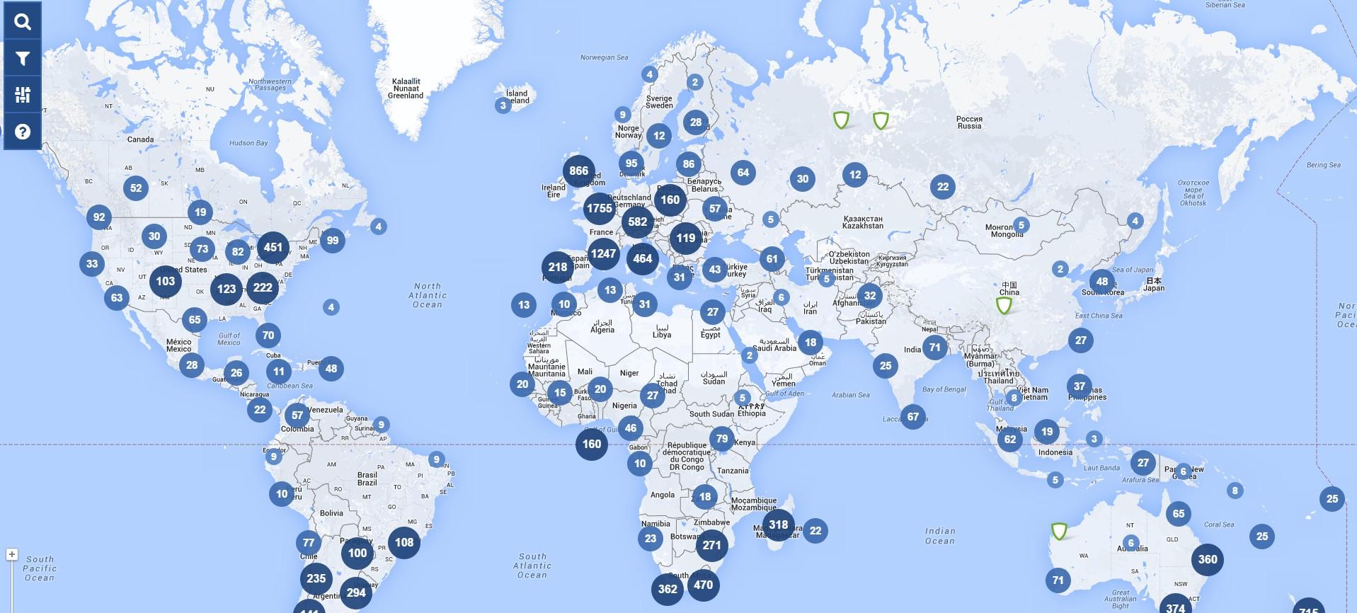 Carte du site RugbyClubs