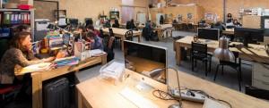 L'espace de coworking d'Ici Montreuil.