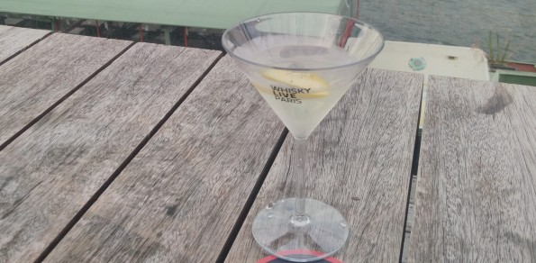 Un cocktail aux Docks - Cité de la mode et du design, lors de l'édition 2015 du salon Whisky Live.