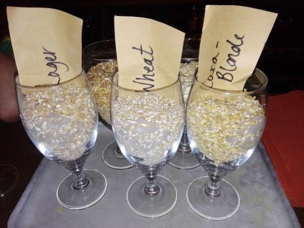 Trois types de malts utilisés par la brasserie FrogBeer.
