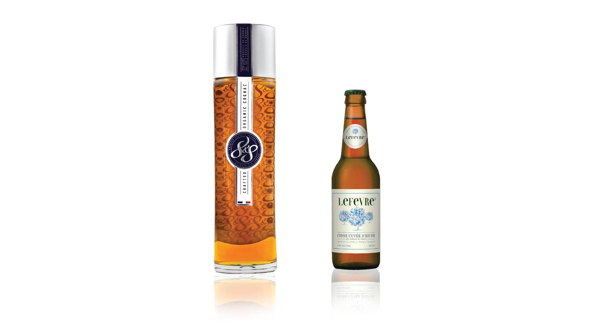 Cognac 8&8 et cidre Lefevre