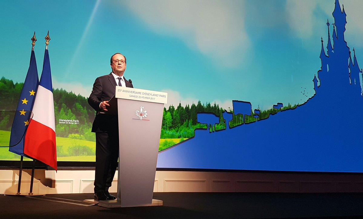 François Hollande à Disneyland Paris - 25 février 2017