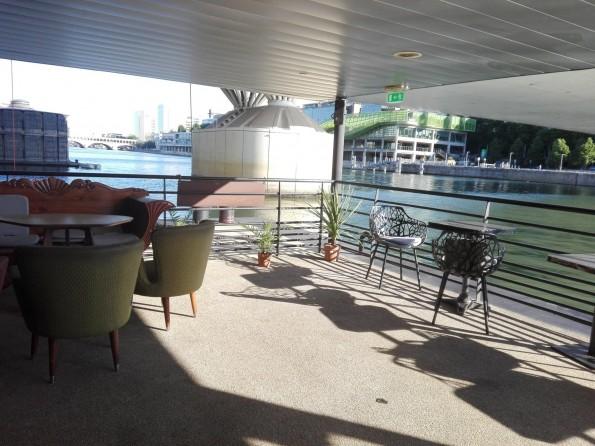 La Démesure sur Seine - Vue du bateau