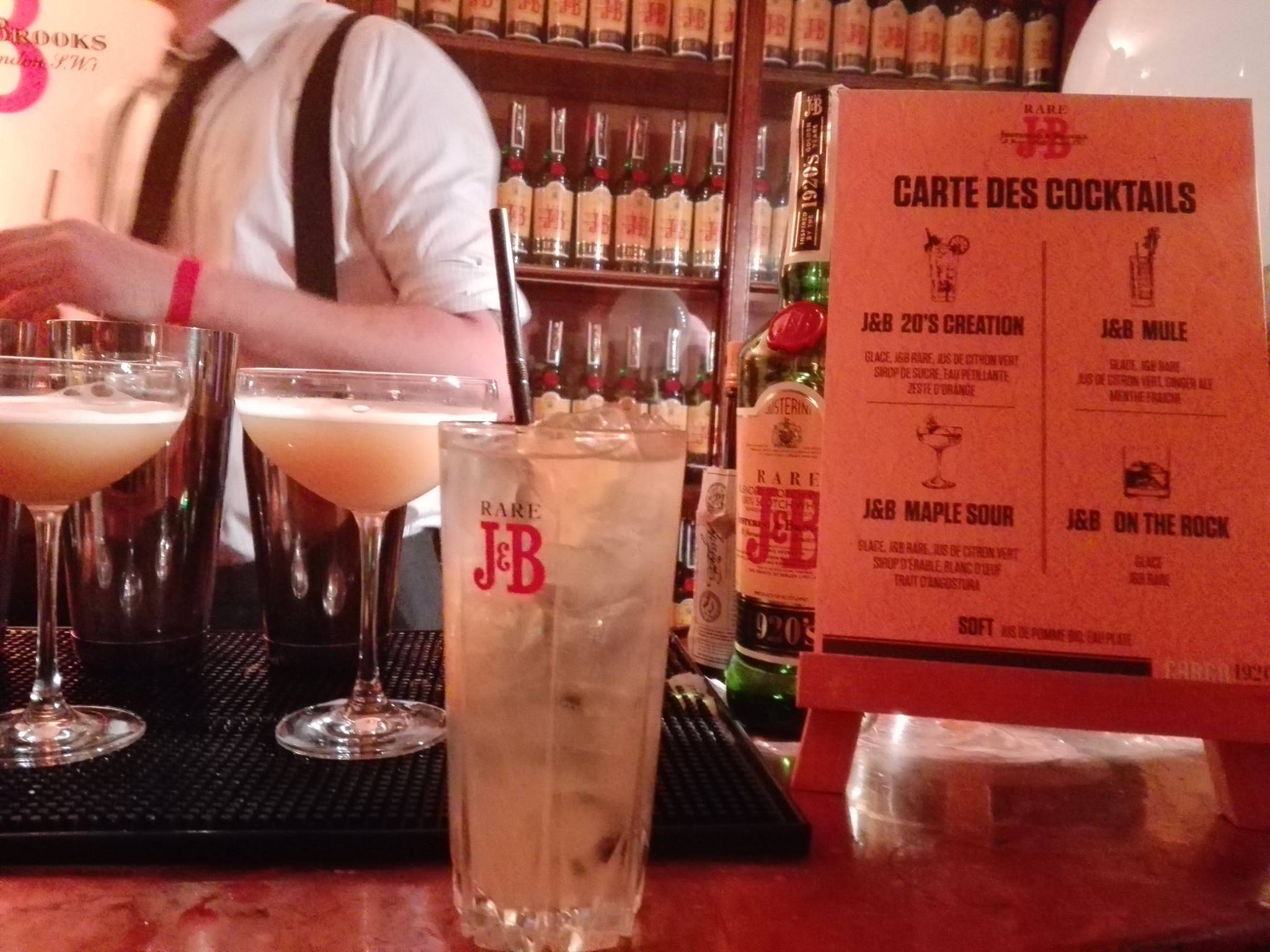 Cocktail au whisky J&B