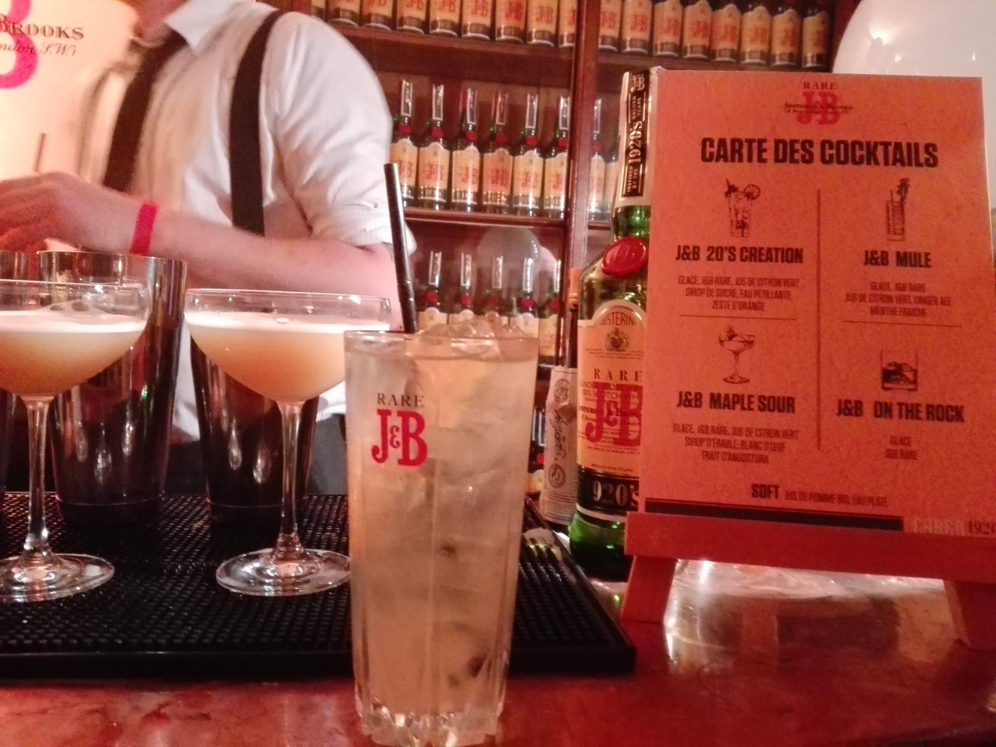 Cocktail au whisky J&B