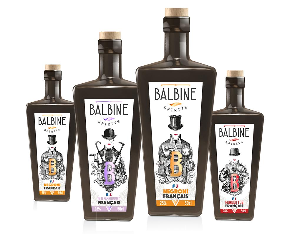 Gamme de Balbine Spirits