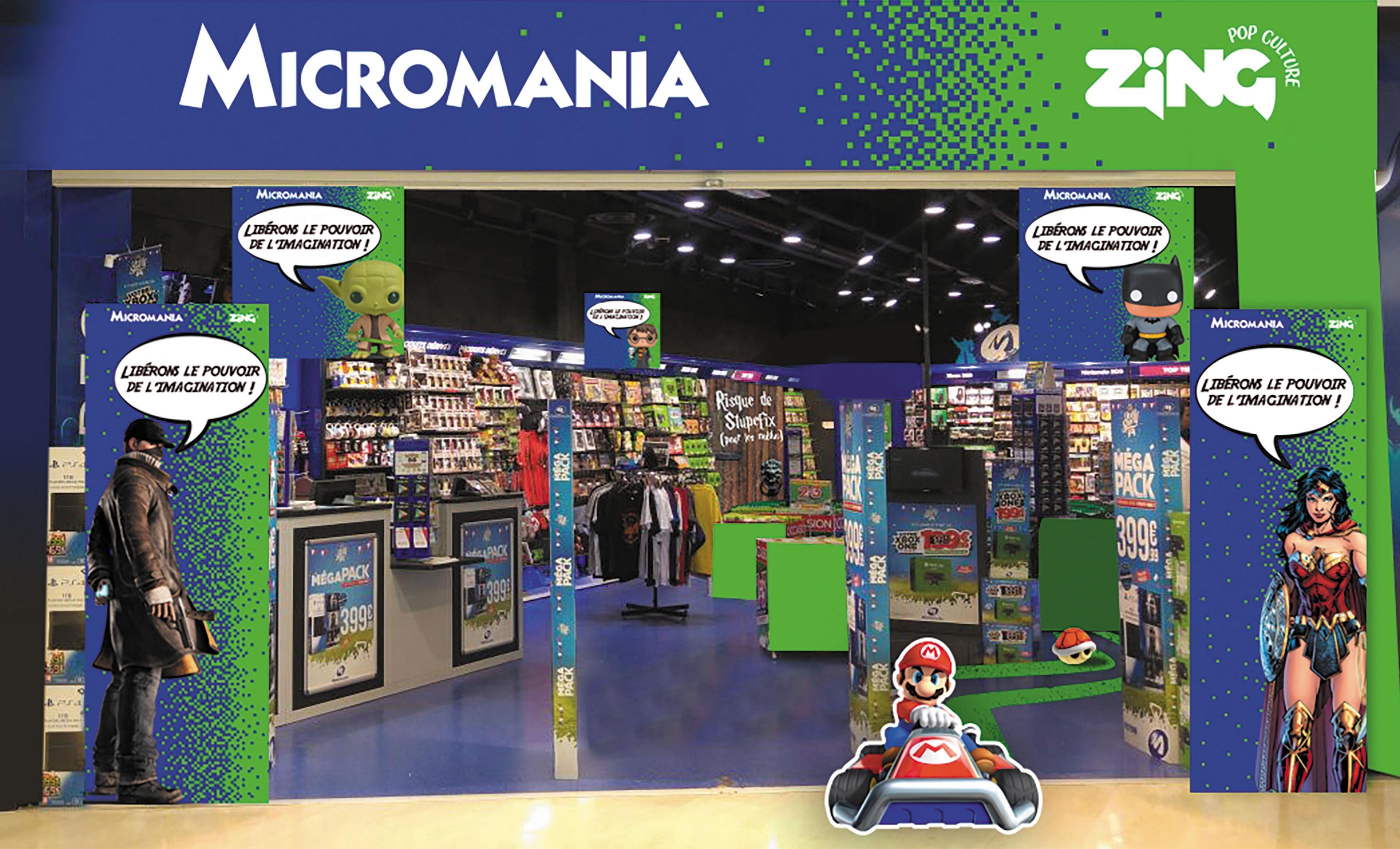 Micromania-Zing : nouvelle façade