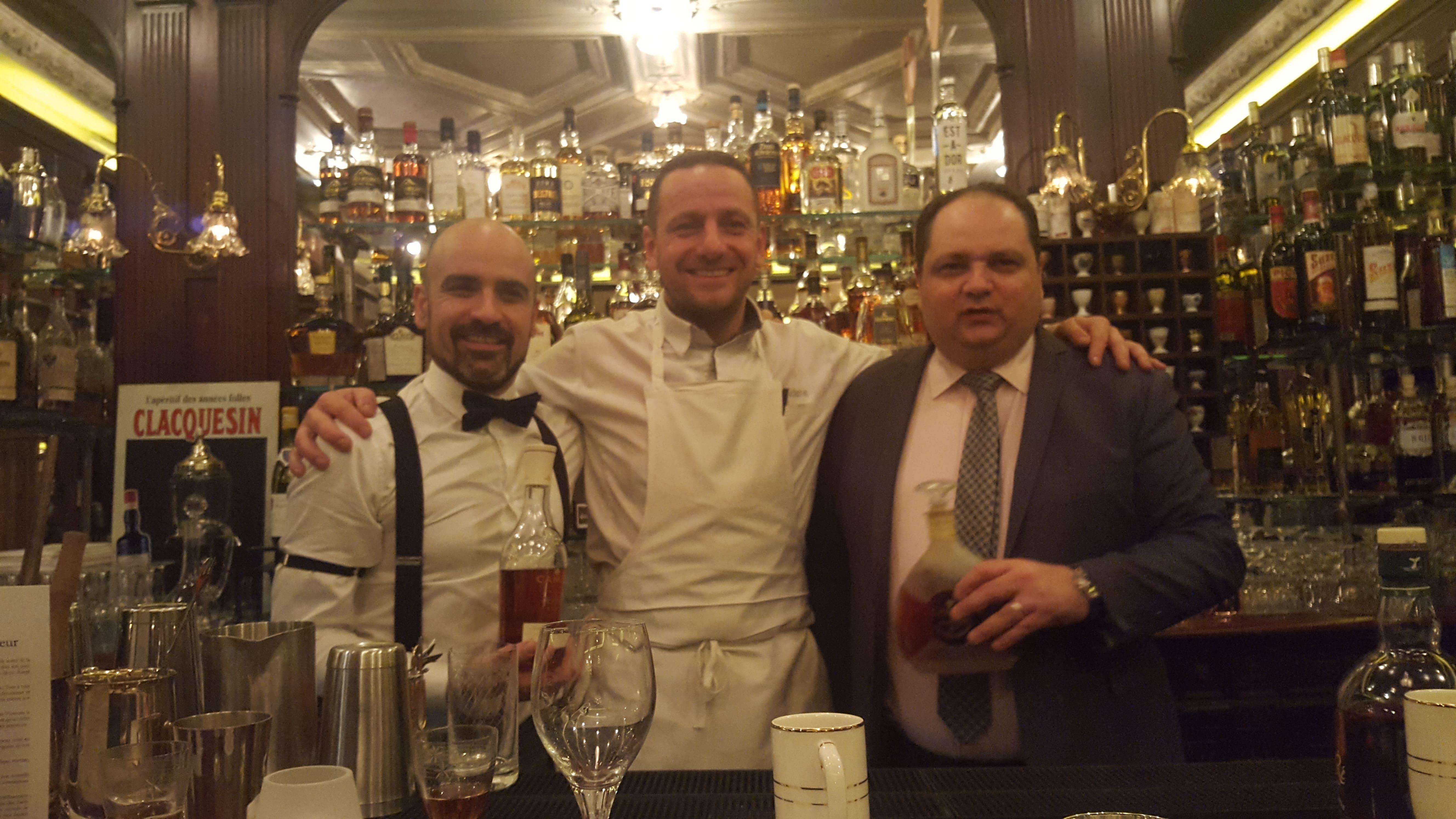 Stanislas Jouenne, Matthieu Scherrer et Paolo Abate au Gallopin, à Paris