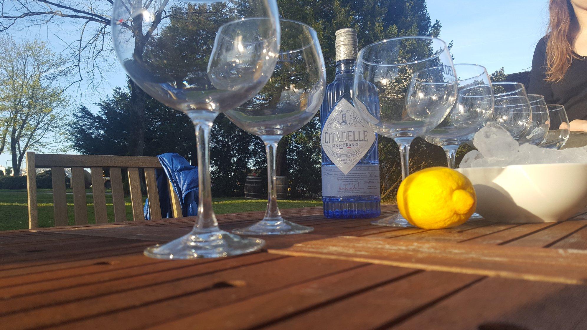 Gin tonic Citadelle au château de Bonbonnet
