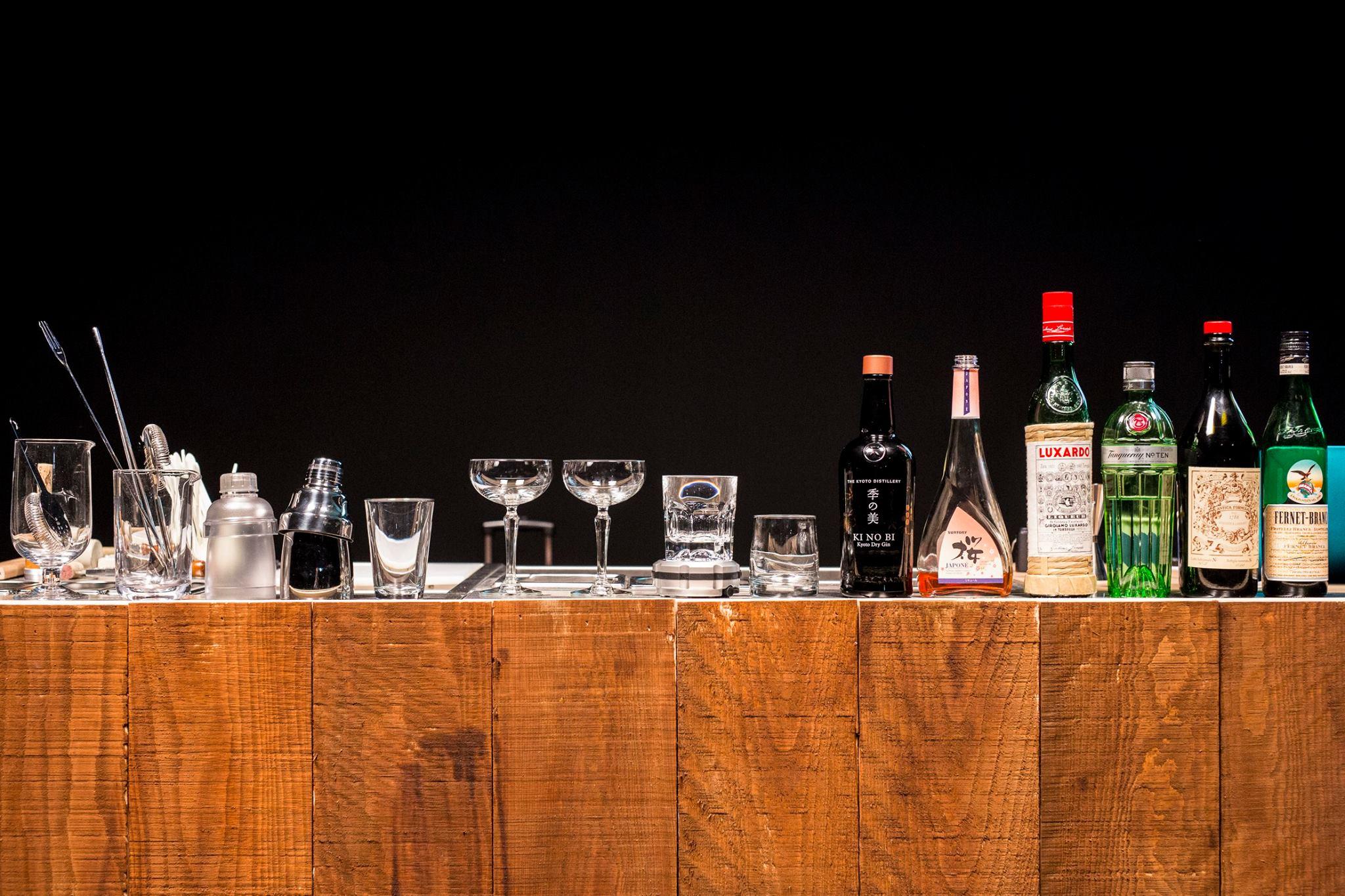 Spiritueux servis en cocktails