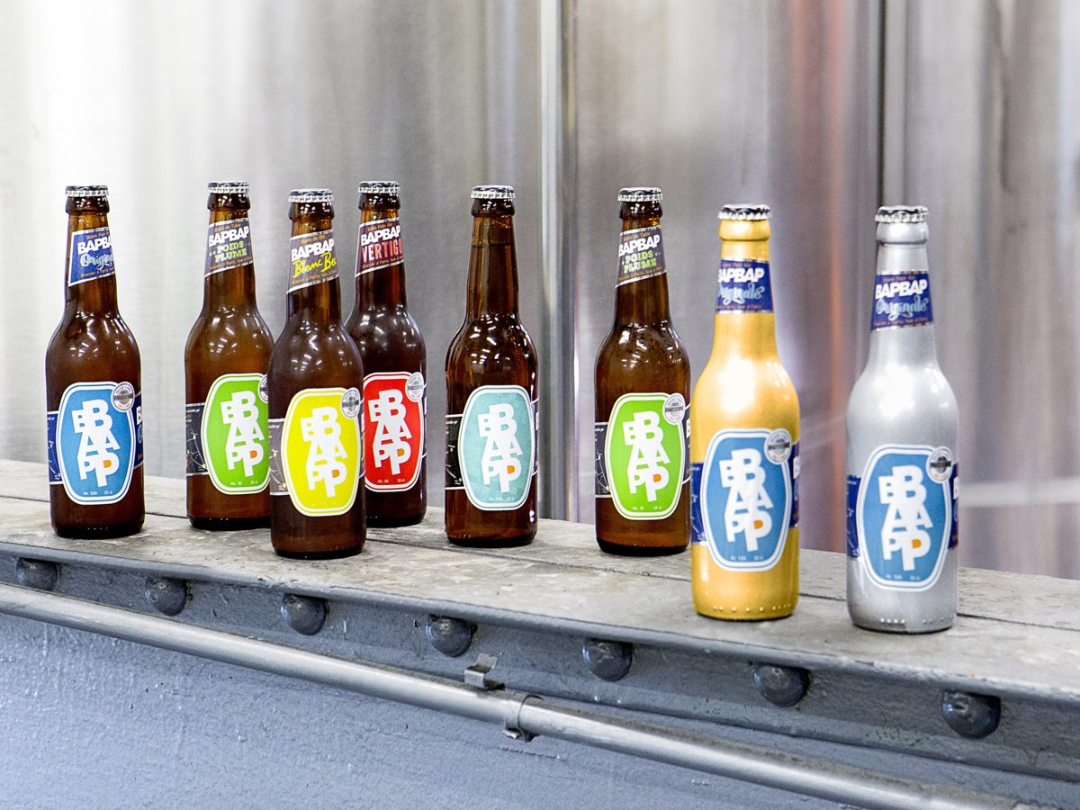 Bières artisanales de la brasserie BapBap à Paris