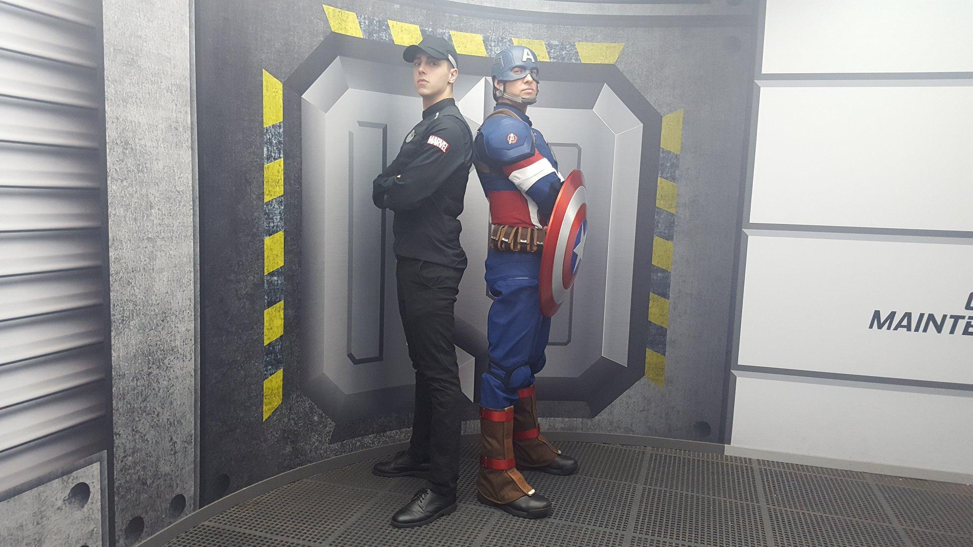 Matthew et Captain America - Walt Disney Studios