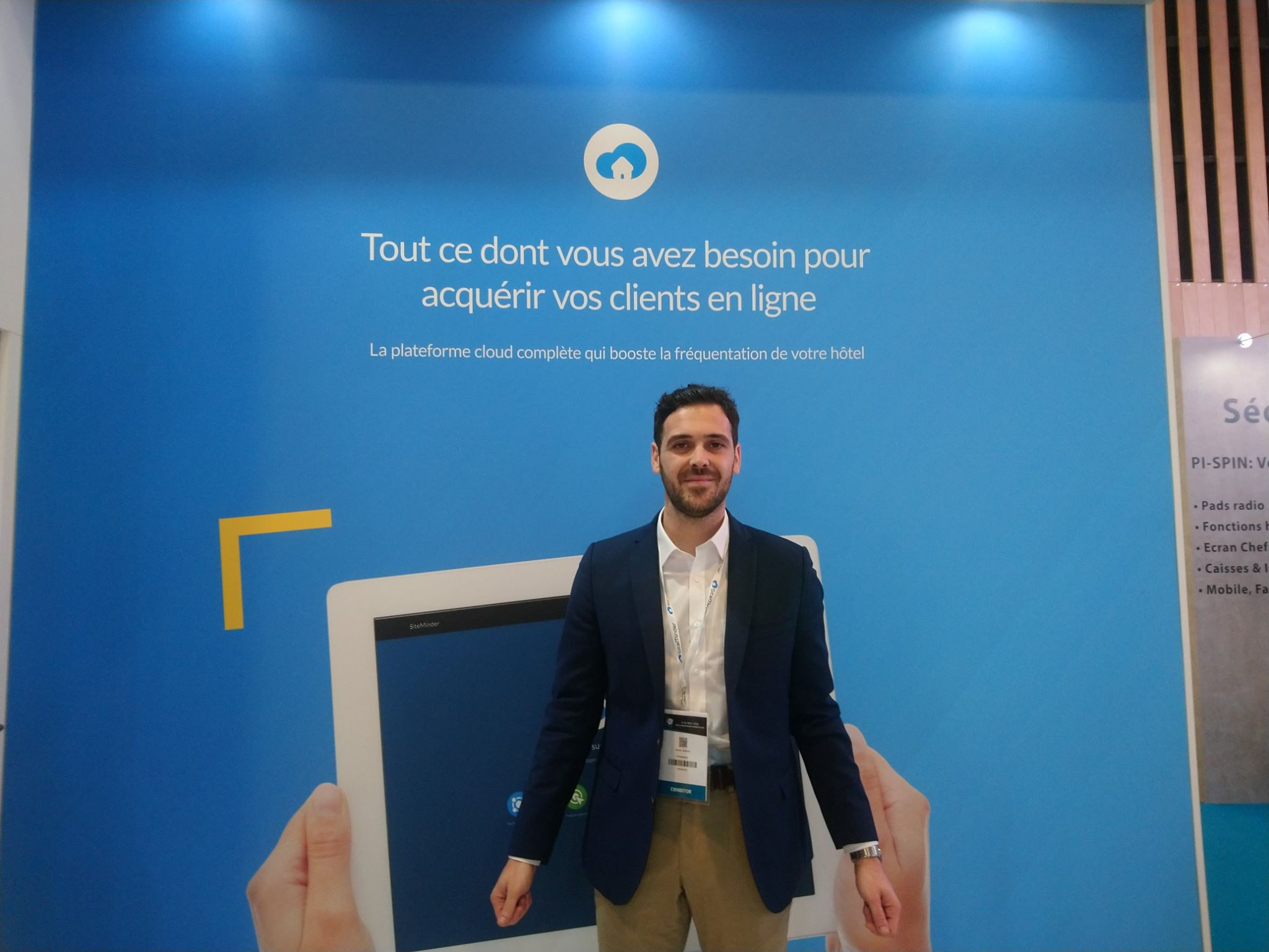 Antoine Aubrun, sales manager SiteMinder