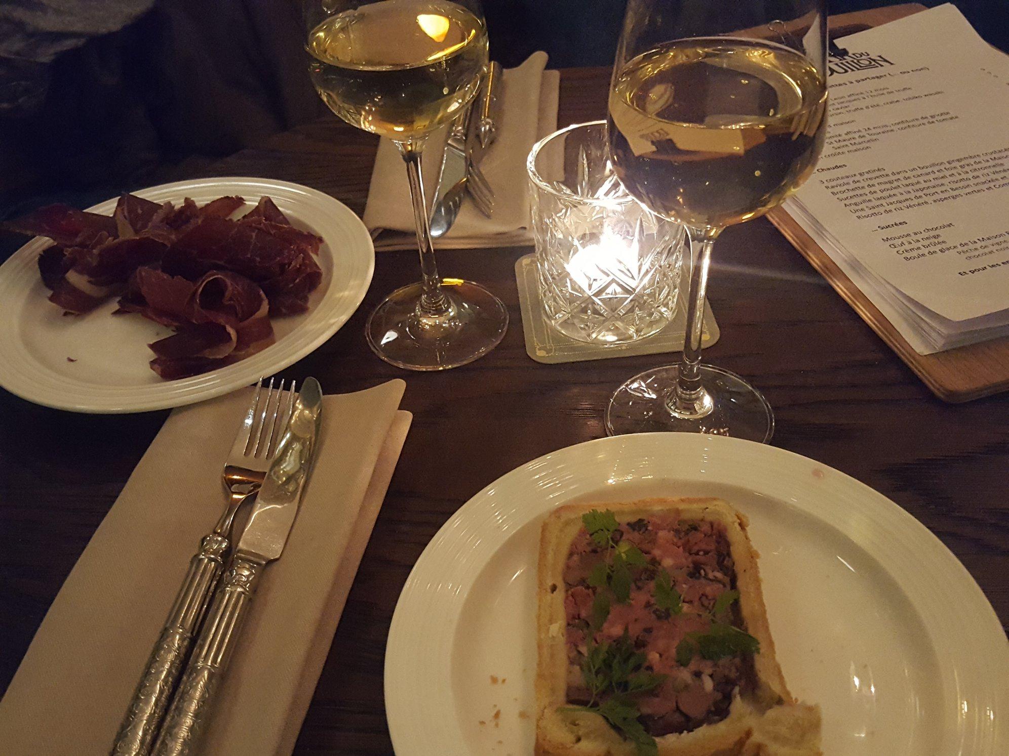 Pâté en croute et jambon de pays - Le Bar du Bouillon, Paris