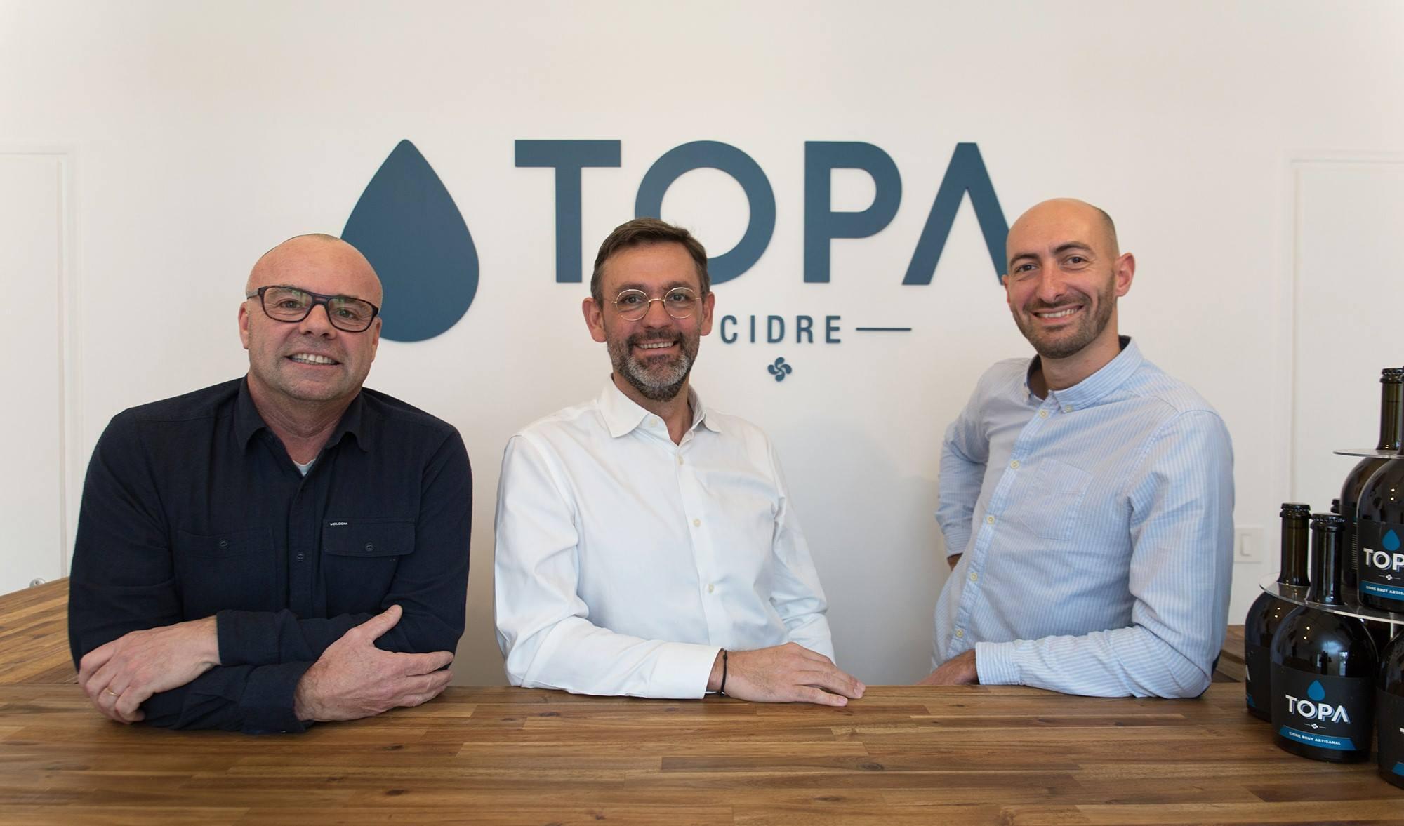 Julien Dubecq, Pascal Moret et Grégoire Tulasne - Cidre Topa