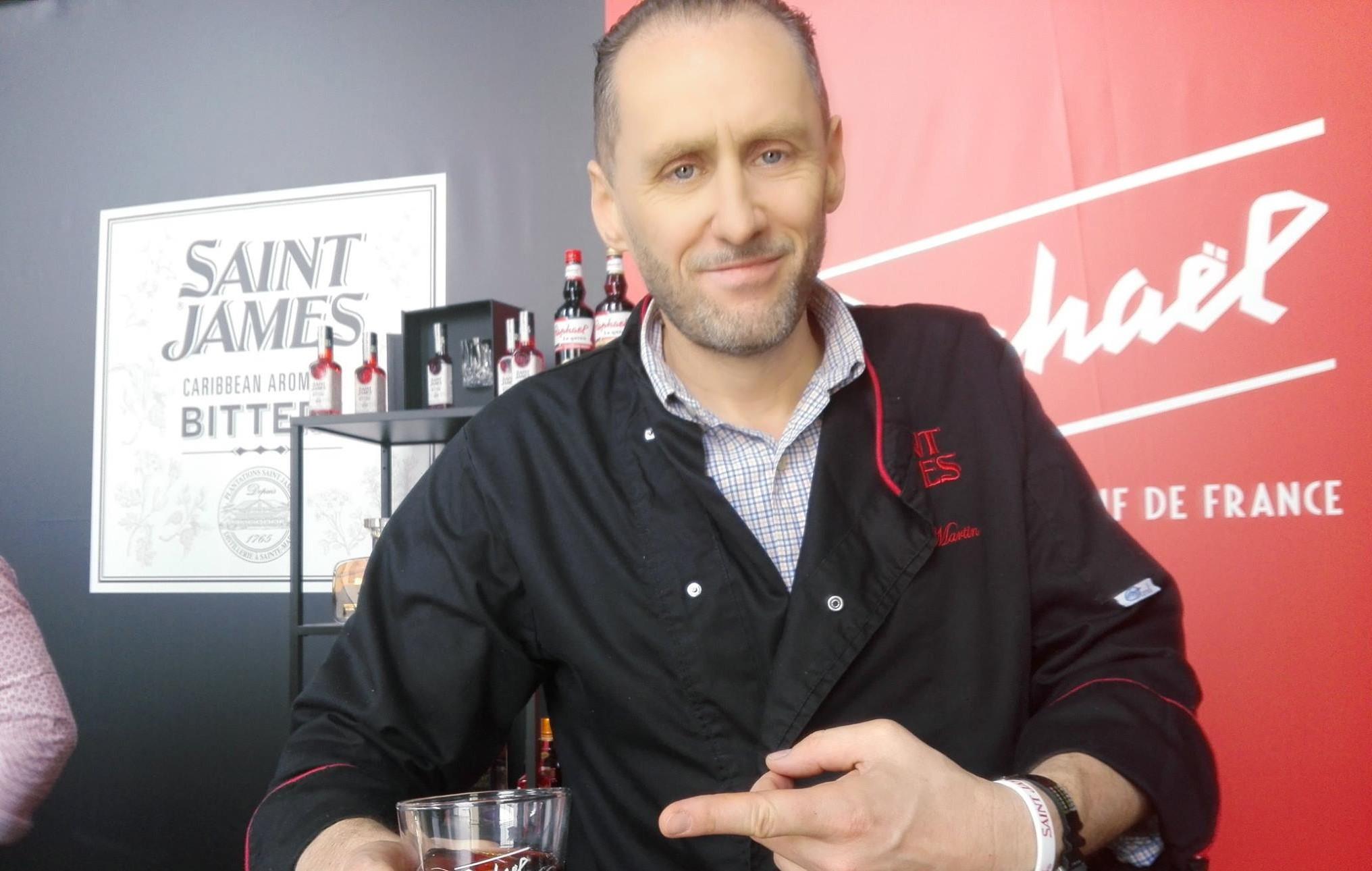 Stephen Martin, ambassadeur Saint-James, lors de Cocktails Spirits 2018