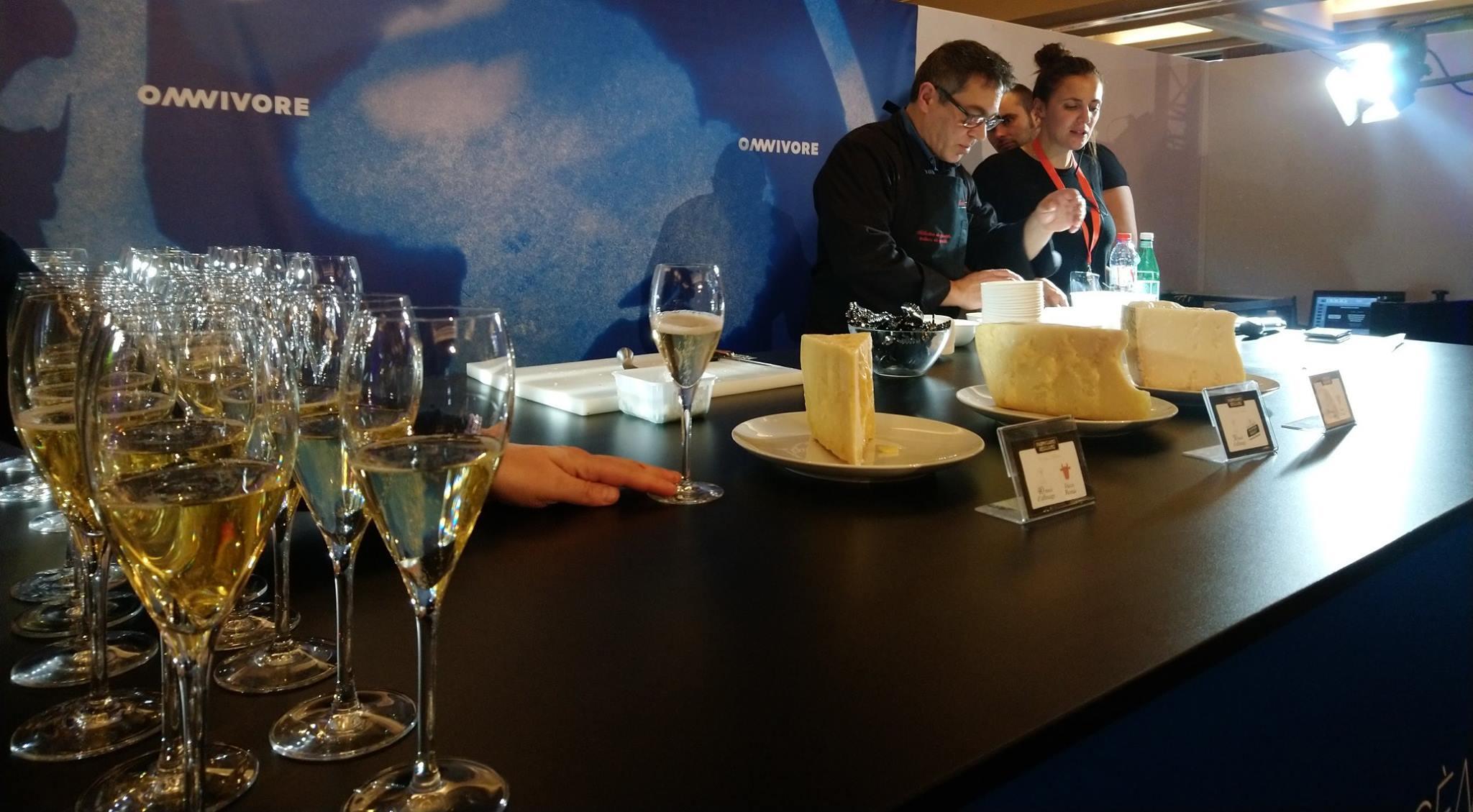Franco Guilli au festival Omnivore Paris 2019 : champagne et Parmigiano Reggiano