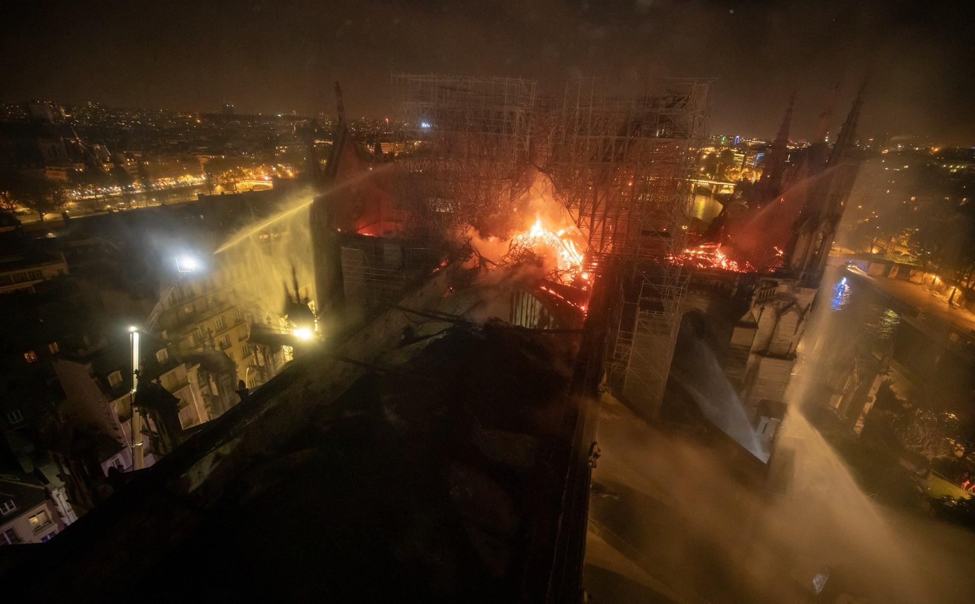 Incendie de la cathédrale Notre-Dame de Paris - 15 avril 2019 - BSPP