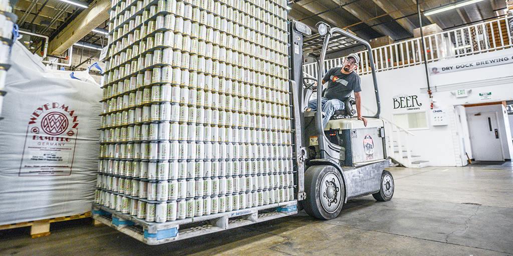 Palette de bière artisanale américaine