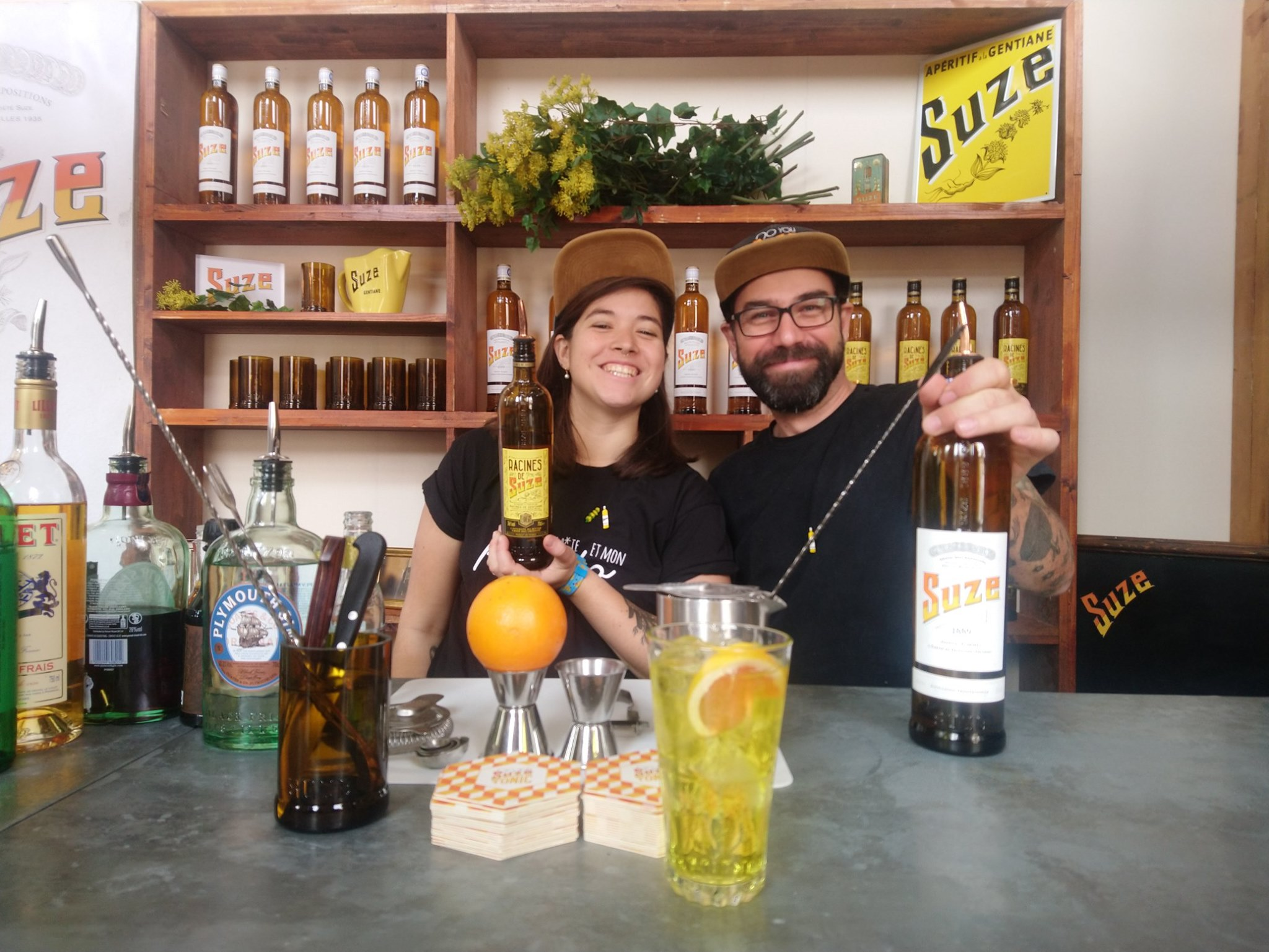 Marie Cabaret - Jean-Sébastien Mélot - Racines de Suze - Cocktails Spirits 2019