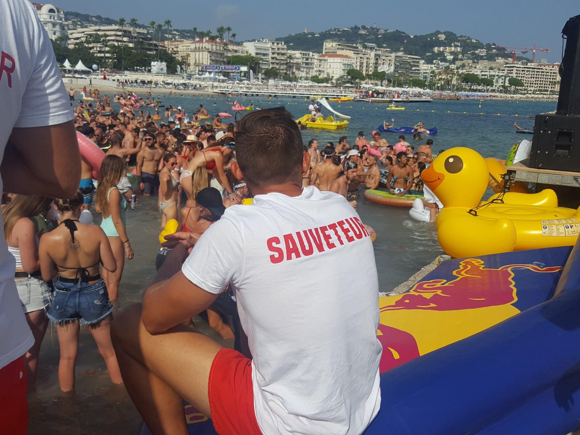 Les Plages électroniques - Cannes - 11 août 2019 - Lifeguard sauveteur