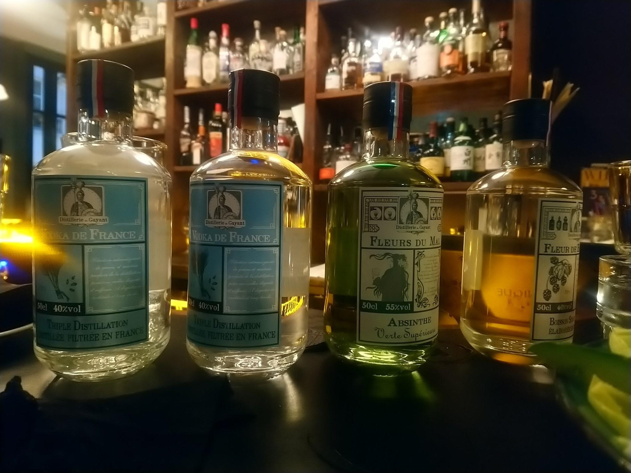 Spiritueux de la Distillerie de Gayant